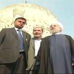 ईरान के राष्ट्रपति के रूप में पहली बार भारत आए रूहानी, कुतुब शाही मक़बरे का किया दीदार